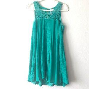 Green lace Alya dress, Large